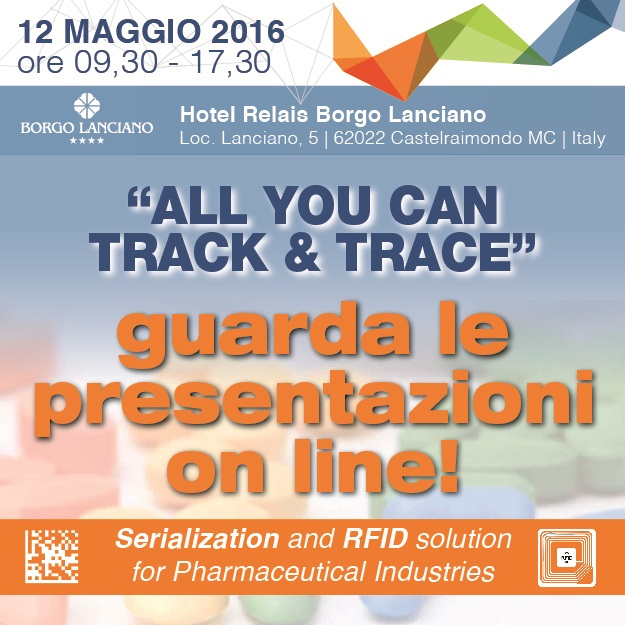 "Un nuovo successo per il progetto ""All You Can Track and Trace - Serialization and RFID solution for Pharmaceutical Industries"" promosso da Esisoftware 01"