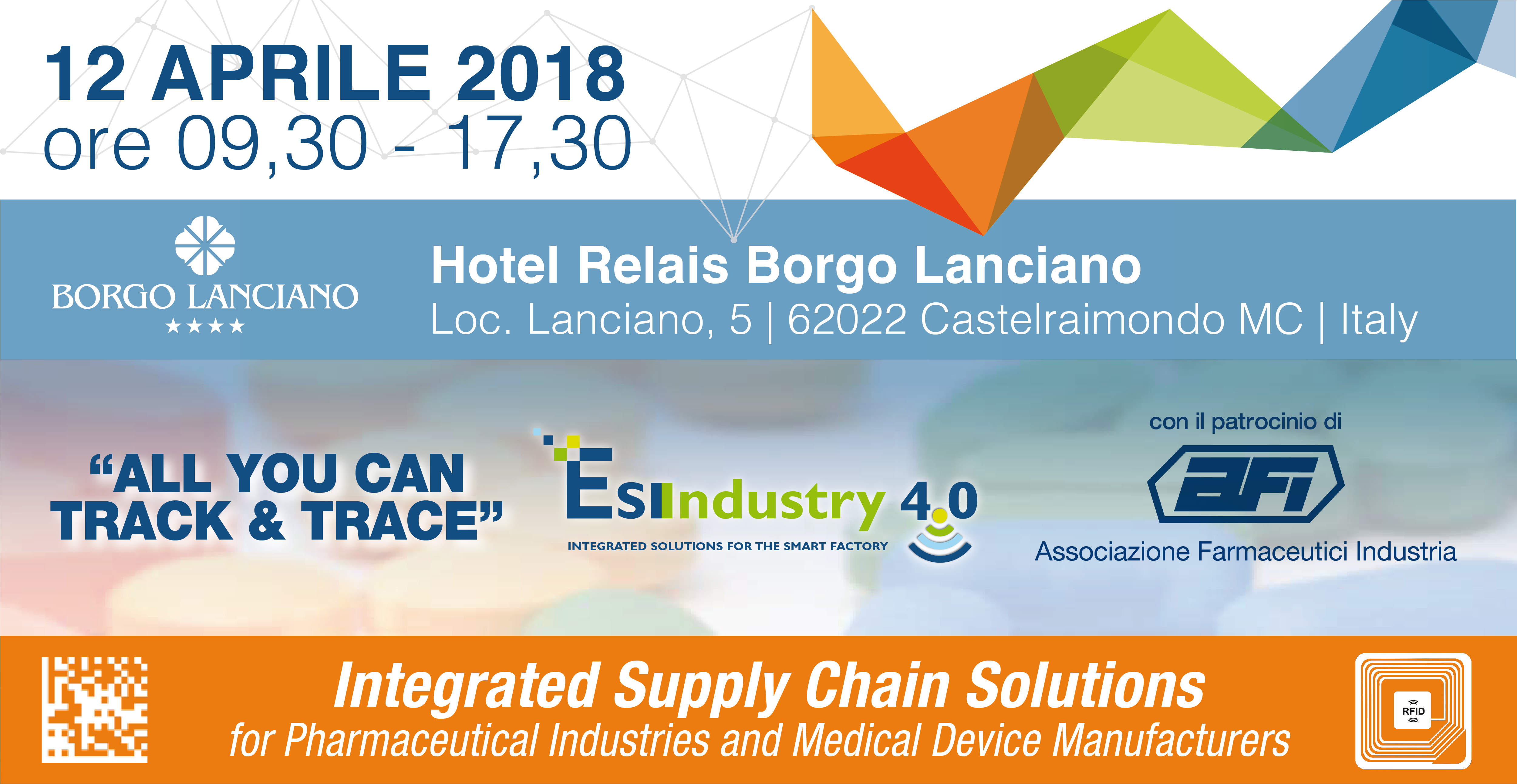 All You Can Track And Trace - 2018 | ESINDUSTRY 4.0 | Integrated Supply Chain Solutions for Pharmaceutical Industries and Medical Device Manufacturers 01