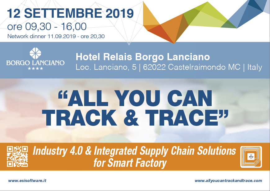 Conclusa la 5° edizione di All You Can Track And Trace - 2019 Industry 4.0 & Integrated Supply Chain Solutions for Smart Factory